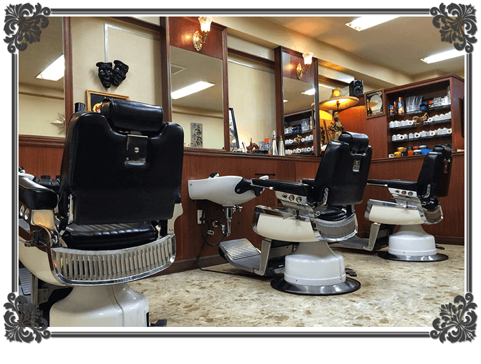 barber The GENT 床屋 店内